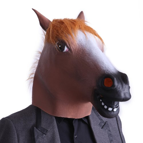 HDE Creepy Funny Animal Head Mask Latex Rubber Halloween Costume Accessory