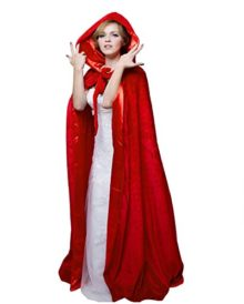 HSDREAM-Unisex-Hooded-Wedding-Cape-Cloak-lined-with-Satin-For-Halloween-Costume-0