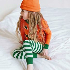 Halloween-Clothes-SetsPumpkin-Long-Sleeve-Cute-Tops-Striped-Pants-Cap-Pajamas-0-1