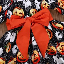 Halloween-Costume-Outfits-Toddler-Infant-Baby-Girl-Pumpkin-Ghost-Print-Belt-Dresses-0-2