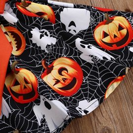 Halloween-Costume-Outfits-Toddler-Infant-Baby-Girl-Pumpkin-Ghost-Print-Belt-Dresses-0-4
