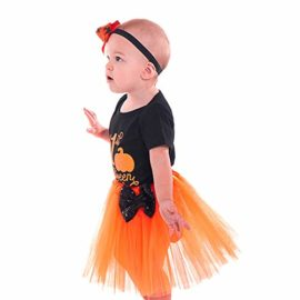 Halloween-Pumpkin-Costume-Jumpsuit-Toddler-Romper-Baby-Girls-Short-Sleeve-Skirt-0-0