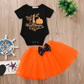 Halloween-Pumpkin-Costume-Jumpsuit-Toddler-Romper-Baby-Girls-Short-Sleeve-Skirt-0-2
