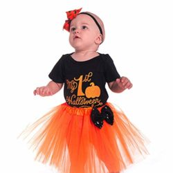Halloween-Pumpkin-Costume-Jumpsuit-Toddler-Romper-Baby-Girls-Short-Sleeve-Skirt-0-3
