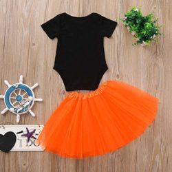 Halloween-Pumpkin-Costume-Jumpsuit-Toddler-Romper-Baby-Girls-Short-Sleeve-Skirt-0-4