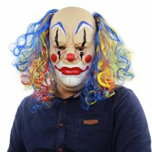 Halloween-Realistic-Creepy-Ghastful-Funny-Joker-Horrible-Clown-Mask-Supplies-Costumes-Red-Hair-Scary-0