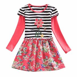 Hatoys-Dresses-Baby-Girls-Long-Sleeve-Stripe-Floral-Flower-Party-Dress-Outfits-Clothes-0