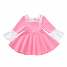 Hatoys-Infant-Baby-Girl-Long-Sleeve-Lace-Dress-Solid-Bow-Princess-Clothes-Dresses-0