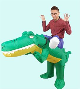 Inflatable-Crocodile-Costume-Unisex-Adults-Halloween-Riding-Animal-Cosplay-Blow-up-Costume-0-2