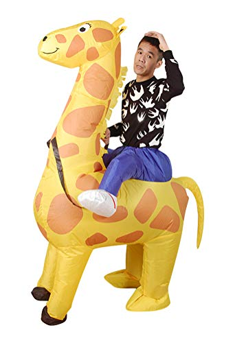 Inflatable Giraffe Costume, Unisex Adults Halloween Riding Animal Cosplay Blow up Costume