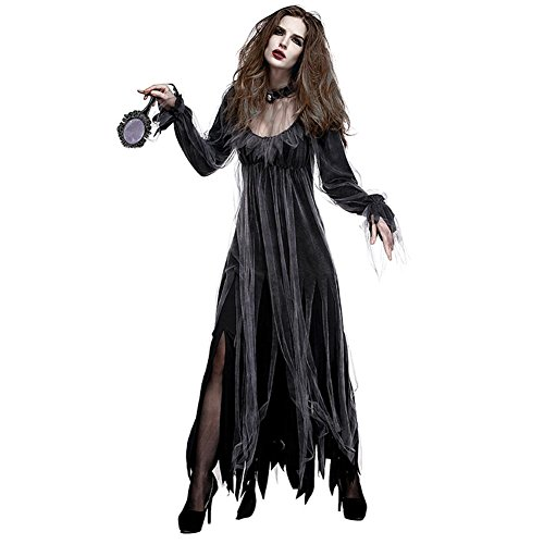 Ivyode Halloween Party Dress, Adult Cemetery Bride Costume, Role Play Demon Costume Street Performances Costume Parties