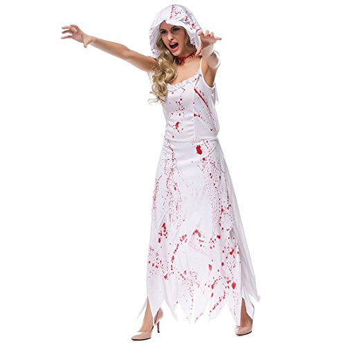 Jiyaru Halloween Bloody Costume Horror Cosplay Clothes Theme Party