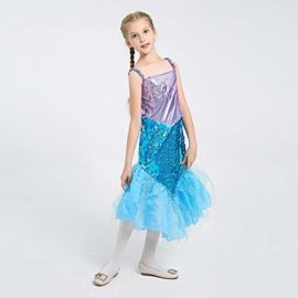 LOLANTA-Little-Girls-Halloween-Mermaid-Costume-Princess-Sequins-Dress-with-Tail-0-2