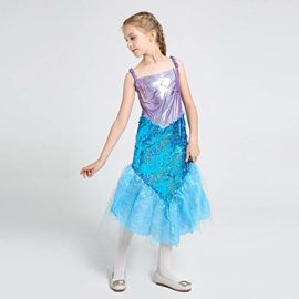 LOLANTA-Little-Girls-Halloween-Mermaid-Costume-Princess-Sequins-Dress-with-Tail-0-3