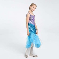LOLANTA-Little-Girls-Halloween-Mermaid-Costume-Princess-Sequins-Dress-with-Tail-0-4
