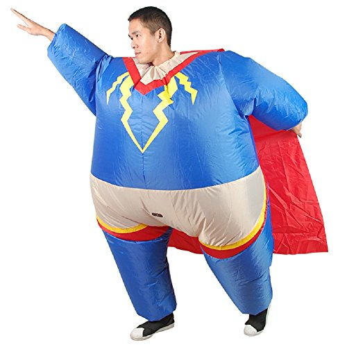 LOLANTA-Mens-Superman-Inflatable-Costume-Adult-Halloween-Superhero-Blow-up-Fancy-Dress-0