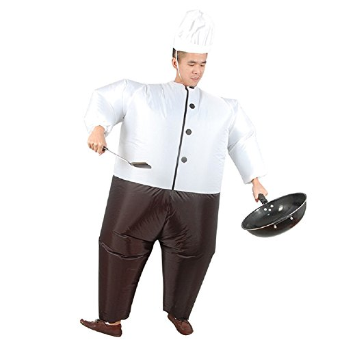 LOLANTA-Unisex-Adults-Cook-Chef-Inflatable-Costume-Halloween-Blow-up-Fancy-Dress-0