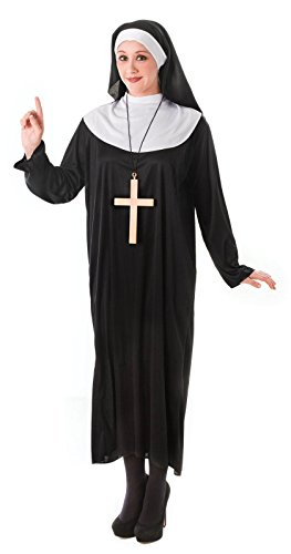 Ladies Womens Nun Costume Fancy Dress Religious Holy Sister