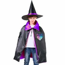 Liu-Chao-Mermaid-Scales-Heart-Boys-Girls-Halloween-Wizard-Witch-Cloak-Cape-Hat-0