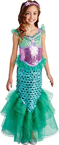 Living-Fiction-Girls-Blue-Seas-Mermaid-Theme-Party-Fancy-Dress-Child-Halloween-Costume-0