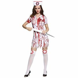 Lucky-Shop1234-Womens-Halloween-Nurse-Costume-Blood-Nurses-Dress-Horror-Bloody-Cosplay-Suit-with-Hat-and-Mask-0