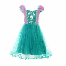 MOREMOO-Girls-Little-Mermaid-Cosplay-Dress-Short-Sleeve-Costume-0