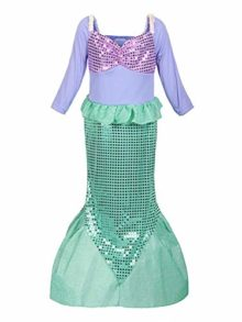 MOREMOO-Girls-Sequins-Little-Mermaid-Costume-0