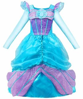 MOREMOO-Long-Sleeve-Little-Girls-Mermaid-Costume-Princess-Dress-Up-0