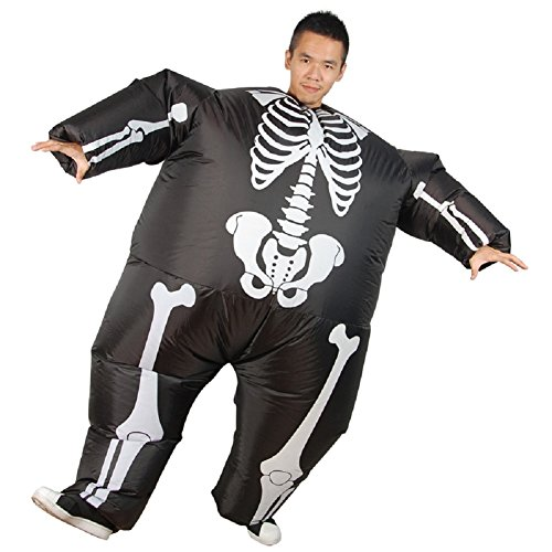 Mens-Halloween-Skeleton-Inflatable-Costume-Novelty-Funny-Blow-up-Outfit-0