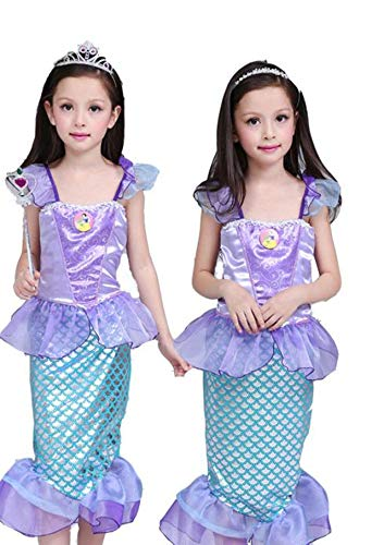 Mermaid-Costumes-for-Girl-Child-Kids-Halloween-Outfit-Pretty-Cosplay-Set-0-2