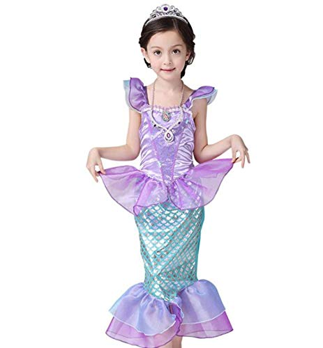 Mermaid-Costumes-for-Girl-Child-Kids-Halloween-Outfit-Pretty-Cosplay-Set-0