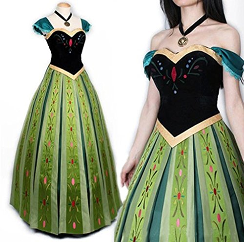 Mordarli Women's Frozen Princess Anna Dress Cosplay Costume Fancy Dress