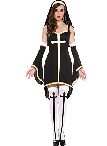 Music Legs Women's Sinfully Hot Nun