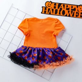 Newborn-Jumpsuit-3M-18M-Baby-Short-Sleeve-Halloween-Pumpkin-Bow-Party-Romper-Dress-0-1