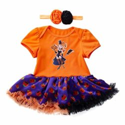 Newborn-Jumpsuit-3M-18M-Baby-Short-Sleeve-Halloween-Pumpkin-Bow-Party-Romper-Dress-0