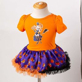 Newborn-Jumpsuit-3M-18M-Baby-Short-Sleeve-Halloween-Pumpkin-Bow-Party-Romper-Dress-0-3