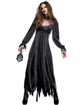 NonEcho-Women-Scary-Zombie-Bloody-Mary-Costume-Halloween-Horror-Ghost-Bride-Dress-0-0