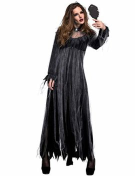 NonEcho-Women-Scary-Zombie-Bloody-Mary-Costume-Halloween-Horror-Ghost-Bride-Dress-0-1