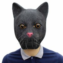 Novelty-Funny-Halloween-Cosplay-Party-Costume-Latex-Animal-Head-MaskBlack-Cat-0