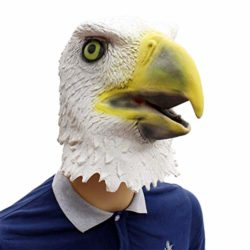 Novelty-Funny-Halloween-Cosplay-Party-Costume-Latex-Animal-Head-MaskFlying-Eagle-White-0-0