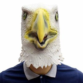 Novelty-Funny-Halloween-Cosplay-Party-Costume-Latex-Animal-Head-MaskFlying-Eagle-White-0-1