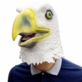 Novelty-Funny-Halloween-Cosplay-Party-Costume-Latex-Animal-Head-MaskFlying-Eagle-White-0-2