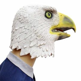 Novelty-Funny-Halloween-Cosplay-Party-Costume-Latex-Animal-Head-MaskFlying-Eagle-White-0-4