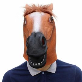 Novelty-Funny-Halloween-Cosplay-Party-Costume-Latex-Animal-Head-MaskHorse-Head-0-0