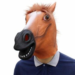 Novelty-Funny-Halloween-Cosplay-Party-Costume-Latex-Animal-Head-MaskHorse-Head-0-1