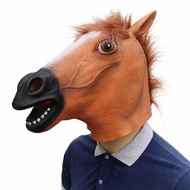 Novelty-Funny-Halloween-Cosplay-Party-Costume-Latex-Animal-Head-MaskHorse-Head-0-2