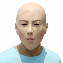 Novelty-Funny-Halloween-Cosplay-Party-Costume-Latex-Head-MaskBaldheaded-Beauty-0
