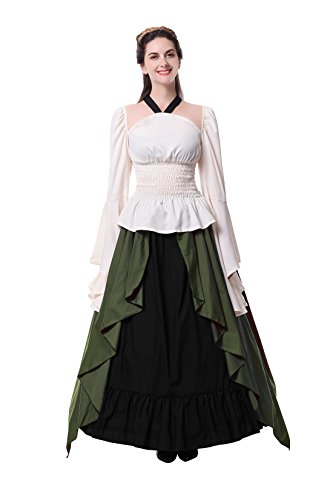 Nuotuo Womens Renaissance Medieval Costume Dress Gothic Victorian Fancy Dresses