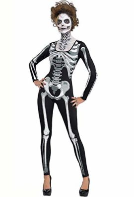Onancehim-Womens-3D-Print-Skull-Skeleton-Bodysuits-Halloween-Costume-Cosplay-Stretch-Skinny-Jumpsuit-Romper-0