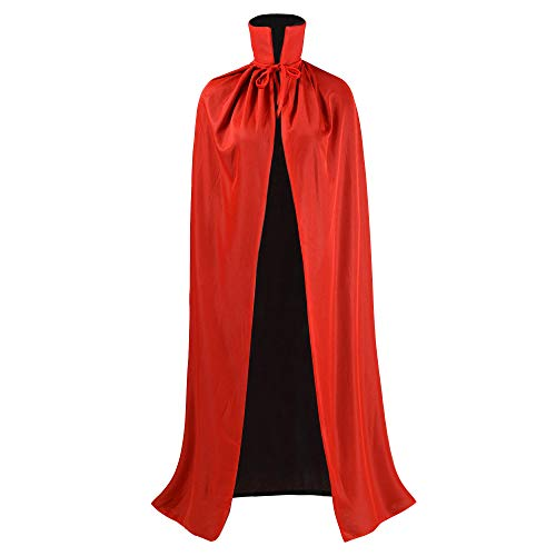 Ourlove Fashion Black and Red Reversible Halloween Christmas Cloak Masquerade Party Cape Costume